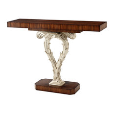 Theodore Alexander - Silver Scrolls Console Table - Console Tables