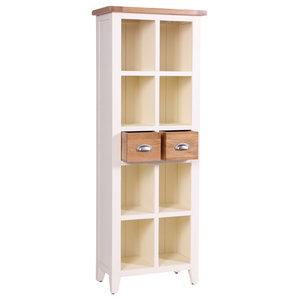 2-Drawer Bookcase, Cream