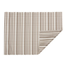 "Heddle Basketweave Floor Mat, Pebble, 30""x106"""