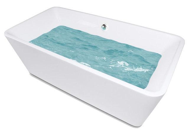 AKDY 67 Bathroom Oval White Color FreeStanding Acrylic