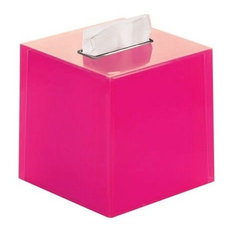 Nameeks Thermoplastic Resin Square Tissue Box Cover Fuchsia Holders