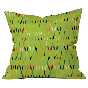 Madart Inc Birds Of A Feather Outdoor Throw Pillow Contemporary Outdoor Cushions And Pillows By Deny Designs