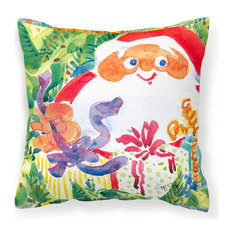 Santa Claus Christmas Surprise Fabric Decorative Pillow