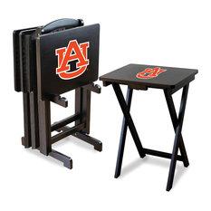 Auburn University TV Trays With Stand, Set of 4