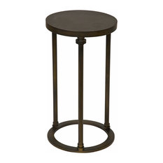 Captivating Samson Industrial Loft Metal Stone Round Side End Table   20 Inch   Side  Tables
