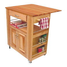 Catskill Craftsmen Heart of the Kitchen Butcher Block Cart with Drop Leaf