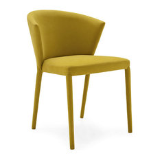 calligaris amelie dining chair mustard yellow set of 2 dining chairs
