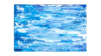 Abstract expressionist seascape