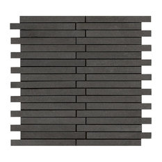 Basalt Offset Mosaic, 5/8 X 6 Honed