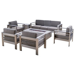 Contemporary Outdoor Lounge Sets by GDFStudio