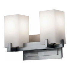 Feiss 2-Light Vanity Fixture, Brushed Steel