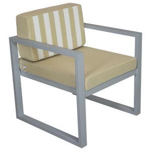 Outdoor Munich Lounge Chair, Silver