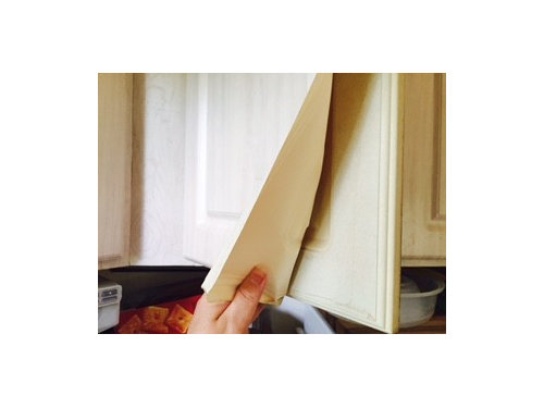 Plastic Covering On Kitchen Cabinets