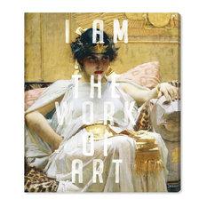 """I am Art"" Canvas Art Print, 45x50 cm"