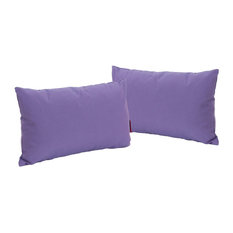 GDF Studio Kaffe Indoor Rectangular Throw Pillow, Purple, Set of 2