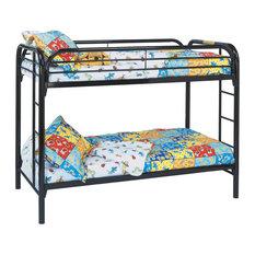 Metal Bunk Bed, Black, Twin