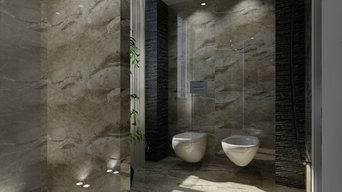 Progettazione ed Interior Design Bagno in camera_