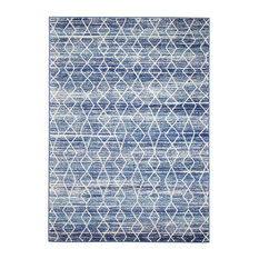 - Camelot Transitional Blue Patterned Designer Rug - Floor Rugs