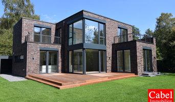 Rotklinker-Neubauvilla im Bauhausstil