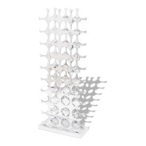 VidaXL Aluminium Wine Rack Stand Holder for 40-Bottle Silver