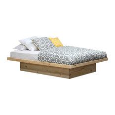Queen Size Platform Bed, Unfinished