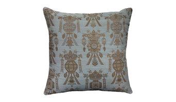 """20"""" Pillow Cover Brentano Lantern Celadon Camel and Gold"""
