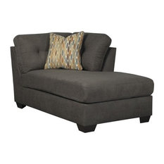 Microfiber chaise lounge chairs houzz for Ashley microfiber chaise lounge