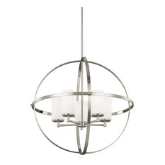 Minimalist chandeliers houzz sea gull lighting energy star led 5 light chandelier brushed nickel chandeliers aloadofball