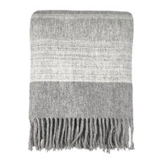 MALAGOON - Julia Wool Throw, Grey - Throws