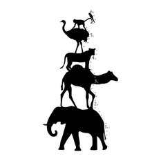 Animal Tower Growth Chart Wall Decal