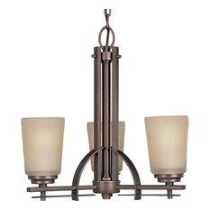 Riverside 3-Light Chandelier, Heirloom and Etched light topaz