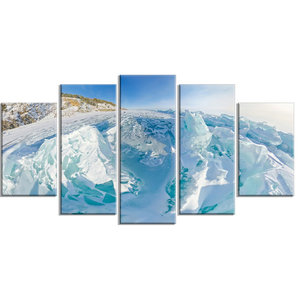 Blue Ice Mountains In Lake Baikal Siberia Landscape Wall Art Contemporary Prints And Posters By Design Art Usa Houzz