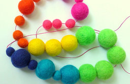 Neon Rainbow Garland by Made Mary