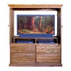 Forest Designs Furniture   Traditional TV Armoire Antique Alder   Media  Cabinets