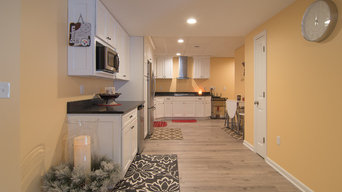 Finished basement with full transitional kitchen and modern bath