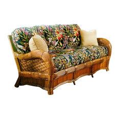 Kingston Reef Sofa in Cinnamon, Fern Natural Fabric