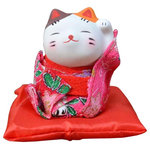 Blancho Bedding - Japanese Style Lucky Cat Figurine Lucky Fortune Cat, 22 - Ships from Hong Kong. Creative and unique gift idea for for Business Opening, Feng Shui Decor Attract Wealth and Good Luck. NOTE: Because of different factory production batch, the color and pattern may be slightly different from the picture, Hope get your kindly understanding. Small size, Height: approx. 7 cm/2.76 inches, width: approx. 6 cm/2.4 inches Material: plaster + cloth Japanese style fortune lucky cat, symbol of good luck Creative and unique gift idea for Business Opening,Feng Shui Decor Attract Wealth and Good Luck Display it in Your Home to welcome wealth