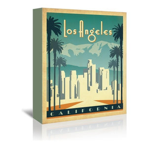 Los_Angeles Wrapped Canvas