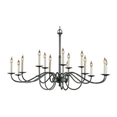 Hubbardton Forge (19204415LC) 15 Light Simple Lines Large Scale Chandelier