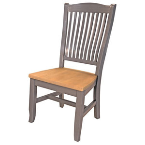 A America Port Townsend Wood Slatback Arm Chair Set Of 2 Traditional Dining Chairs By A America Houzz