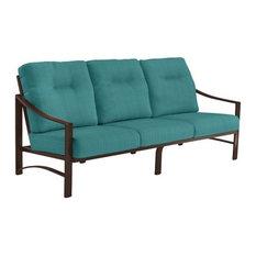 Kenzo Cushion Sofa, Rich Earth Frame, Dupione Deep Sea Cushion