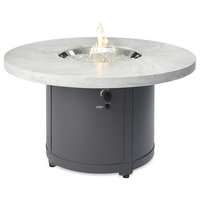 """Beacon Fire Pit Table w/ Electronic Ignition, NG, White Onyx, 48"""" x 48"""""""