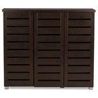 Pocillo Wood Shoe Storage Cabinet - Contemporary - Shoe Storage ...
