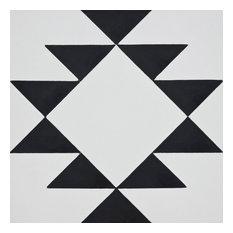 """8""""x8"""" Rissani Handmade Cement Tile, White/Black, Set of 12"""