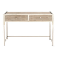 Stainless Steel Wood Console 48-inchx33-inch