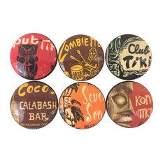 6 Piece Set Tiki Bar Cabinet Knobs