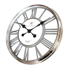 EMDE Chrome Openwork Wall Clock