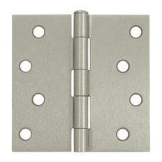 ... Square Steel Hinge, Pair, Set of 10, Residential, O - Hinges