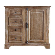 """35"""" Providence Single Sink Cabinet Only Without Top, Driftwood"""