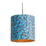 Black hanging lamp with velor shade butterflies with gold 40 cm - Combi